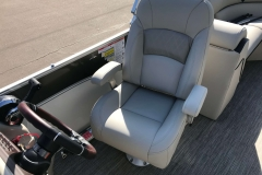 High Back Captain's Helm Chair of a 2019 Berkshire 23RFX STS Pontoon