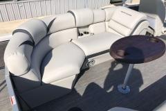 Port Side Stern Seating of a 2019 Berkshire 23RFX STS Pontoon