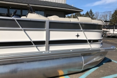 Charcoal and Black  Exterior of a 2019 Berkshire 23RFX STS Pontoon 4