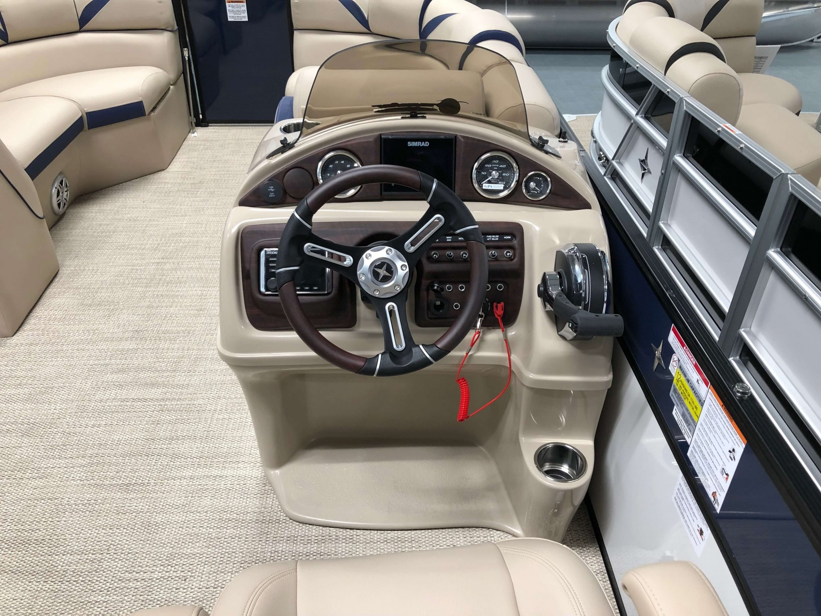 Drivers Console of a 2019 Berkshire 23SB2 STS Pontoon