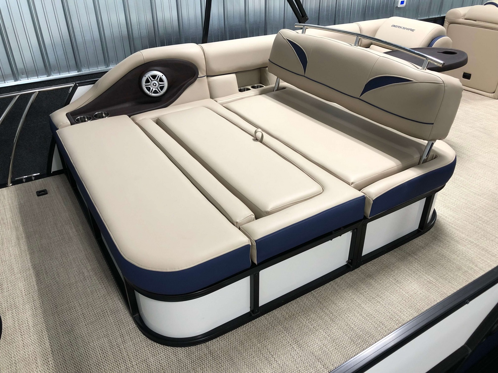 Rear Swing Back Seating of a 2019 Berkshire 23SB2 STS Pontoon