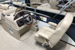 Captain's Chair and Helm of a 2019 Berkshire 23SB2 STS Pontoon