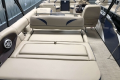 Rear Swing Back Seating of a 2019 Berkshire 23SB2 STS Pontoon 2