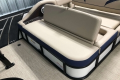 Rear Swing Back Seating of a 2019 Berkshire 23SB2 STS Pontoon 3