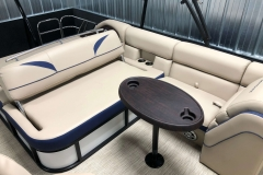 Rear Swing Back Seating of a 2019 Berkshire 23SB2 STS Pontoon 4