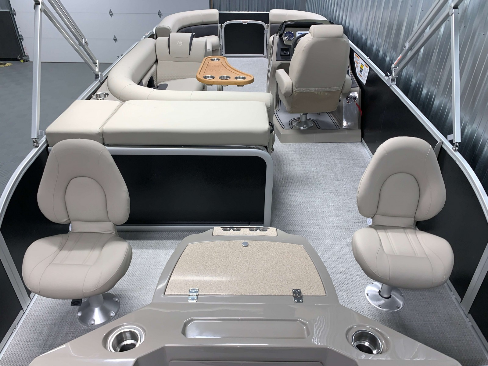 Rear Fishing Station of a 2020 Premier 220 Gemini Fishing Pontoon