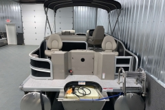Rear Swim Deck of a 2020 Premier 220 Gemini Fishing Pontoon