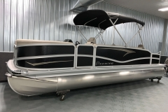 Easy Fold Bimini Top of a 2020 Premier 220 Gemini Fishing Pontoon