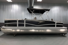 Black Panel Color of a 2020 Premier 220 Gemini Fishing Pontoon