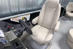 Captain's Chair of a 2020 Premier 220 Gemini Fishing Pontoon