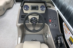 Driver's Console of a 2020 Premier 220 Gemini Fishing Pontoon