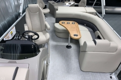 Interior Rear Layout of a 2020 Premier 220 Gemini Fishing Pontoon 2