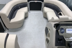 Interior Bow Layout of a 2020 Premier 220 Gemini Fishing Pontoon 2
