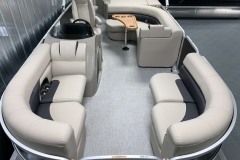 Sea Weave Vinyl Flooring of a 2020 Premier 220 Gemini Fishing Pontoon