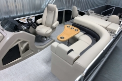 Interior Rear Layout of a 2020 Premier 220 Gemini Fishing Pontoon