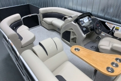 Interior Bow Layout of a 2020 Premier 220 Gemini Fishing Pontoon