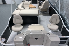 Interior Layout of a 2020 Premier 220 Gemini Fishing Pontoon