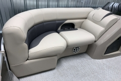 Interior Bow Lounge of a 2020 Premier 220 Gemini Fishing Pontoon