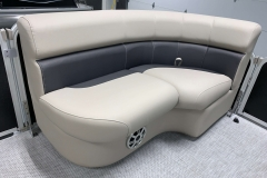 Interior Bow Seating of a 2020 Premier 220 Gemini Fishing Pontoon