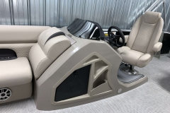 Fiberglass Helm of a 2020 Premier 220 Gemini Fishing Pontoon