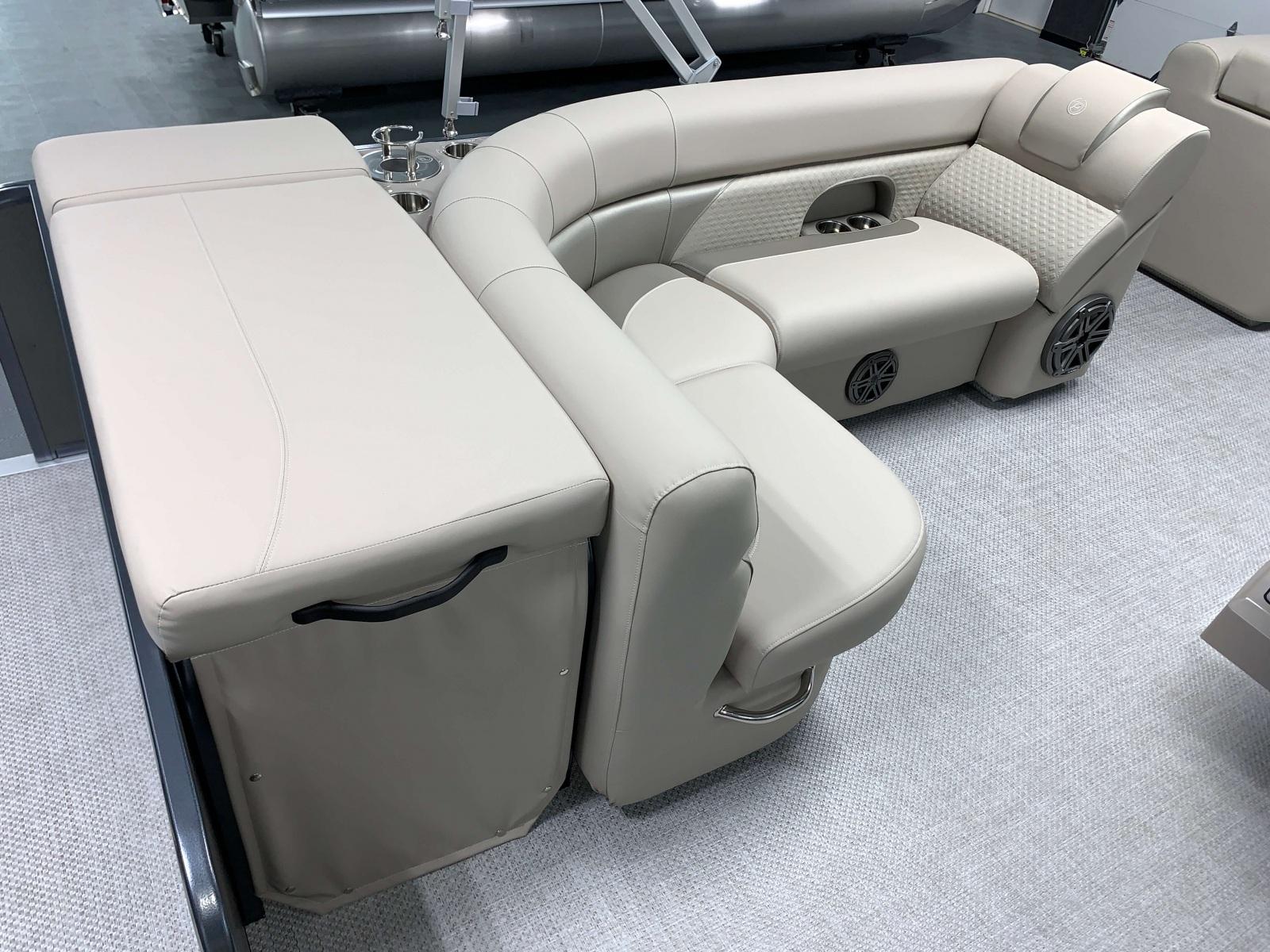 Rear Layout Sunpad of a 2020 Premier 220 Sunsation RE Pontoon Boat
