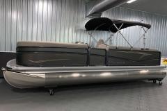 Easy Fold 9' Bimini Top of a 2020 Premier 220 Sunsation RE Pontoon Boat