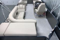 Interior Layout of a 2020 Premier 220 Sunsation RE Pontoon Boat