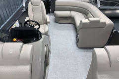Interior Rear Layout of a 2020 Premier 220 Sunsation RE Pontoon Boat