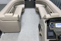 Interior Bow Layout of a 2020 Premier 220 Sunsation RE Pontoon Boat