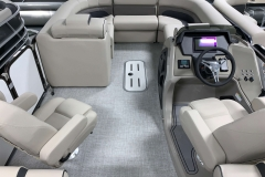 Interior Bow Layout of a 2020 Premier 230 Solaris PTX Tritoon