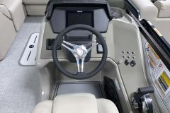 Simrad Touchscreen of a 2020 Premier 230 Solaris PTX Tritoon