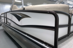 White Exterior Color of a 2020 Premier 230 Solaris PTX Tritoon 3