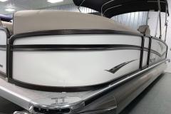 White Exterior Color of a 2020 Premier 230 Solaris PTX Tritoon 2