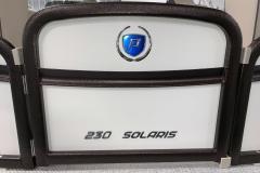 Lava Rock Hammered Rails of a 2020 Premier 230 Solaris PTX Tritoon