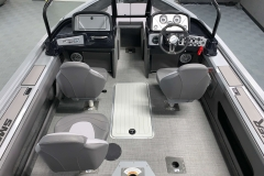 Sea Weave Vinyl Floor of a 2021 Smoker Craft 172 Explorer Fish And Ski Boat