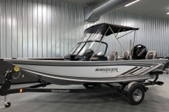 White Exterior Color of a 2021 Smoker Craft 172 Explorer Fish And Ski Boat