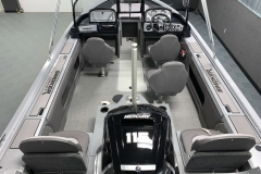 Interior Cabin layout of a 2021 Smoker Craft 172 Explorer Fish And Ski Boat