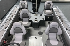 Cabin Seating Configuration of a 2021 Smoker Craft 172 Explorer Fish And Ski Boat