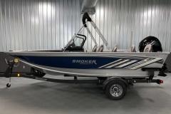 Blue Exterior Color of a 2020 Smoker Craft 182 Explorer Fish And Ski Boat