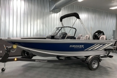 Folded Fisherman's Top of a 2020 Smoker Craft 182 Explorer Fish And Ski Boat