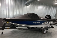 Trailerable Dowco Cover of a 2020 Smoker Craft 182 Explorer Fish And Ski Boat