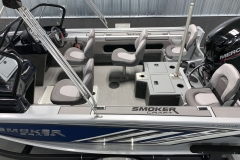 Interior Rear Layout of a 2020 Smoker Craft 182 Explorer Fish And Ski Boat