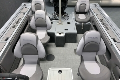 Interior Seating Configuration of a 2020 Smoker Craft 182 Explorer Fish And Ski Boat