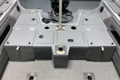 Rear Casting Deck of a 2020 Smoker Craft 182 Explorer Fish And Ski Boat