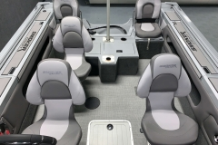 Rear Seating Configuration of a 2020 Smoker Craft 182 Explorer Fish And Ski Boat