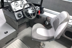 Driver's Console of a 2020 Smoker Craft 182 Pro Mag Fishing Boat