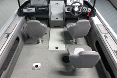 Sea Weave Vinyl Floor of a 2020 Smoker Craft 182 Pro Mag Fishing Boat