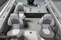 Seating Configuration of a 2020 Smoker Craft 182 Pro Mag Fishing Boat