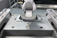 Rear Fishing Chair of a 2020 Smoker Craft 182 Pro Mag Fishing Boat