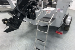 Rear 3-Step Ladder of a 2020 Smoker Craft 182 Pro Mag Fishing Boat